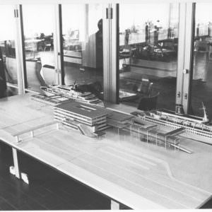 Modell-av-nya-terminalen-i-Göteborg-1971